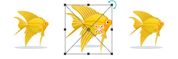 図解:画像や図形を自由に変形 Ctrl + T
