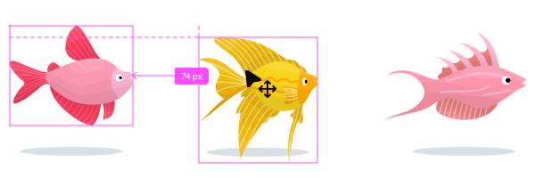 図解:オブジェクト間の距離を計測表示 Ctrl + マウスホバー