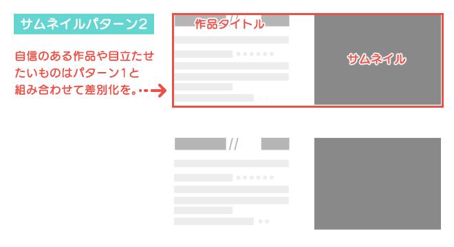 図解:ポートフォリオサイトのレイアウト一覧パターン2