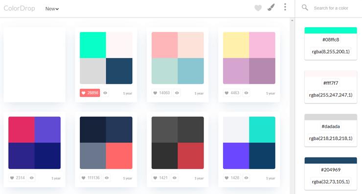 画像:配色パターンツール「ColorDrop」